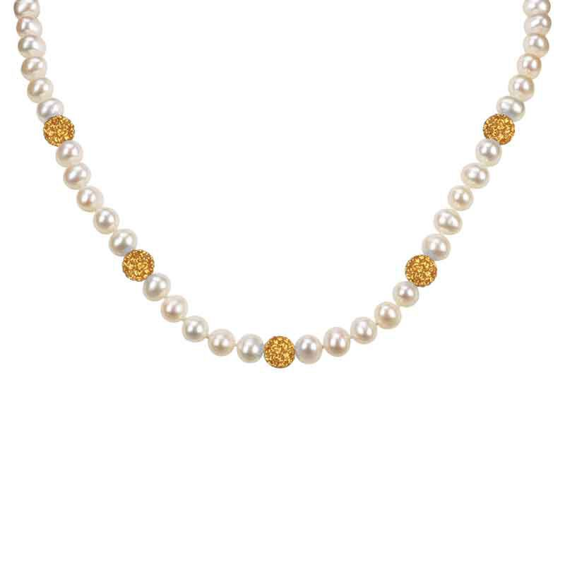 Bedazzled with Birthstones Pearl Necklace 5106 001 0 11