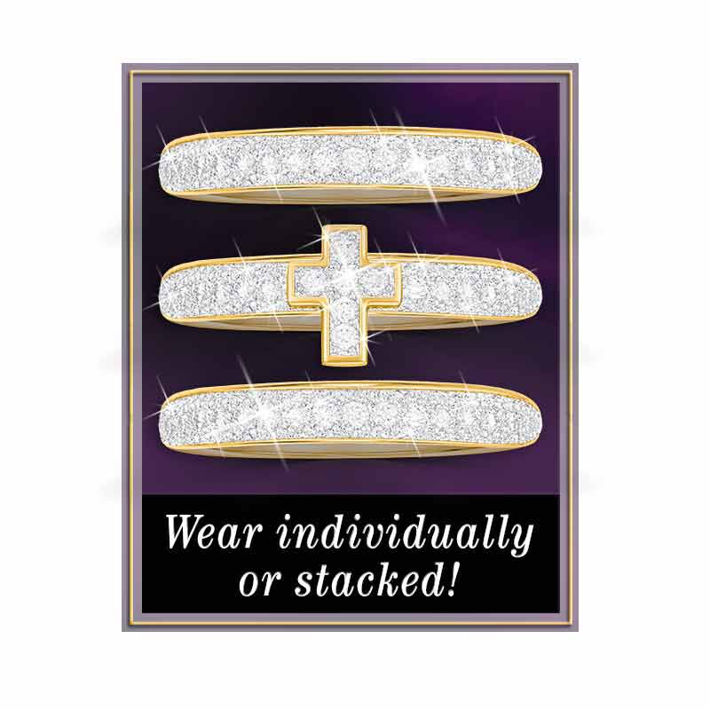 Blessed Love Stackable Diamond Ring Set 5279 001 1 3