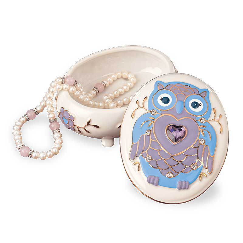 My Granddaughter Never Forget Whooo Loves You Porcelain Jewelry 6441 001 2 4