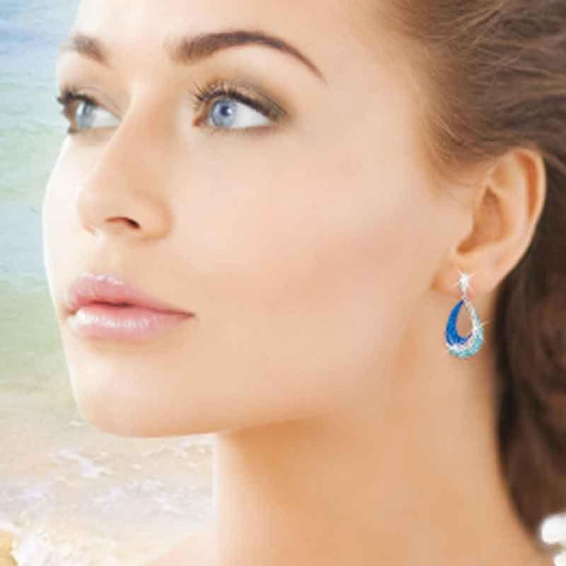 Blue Wave Crystal Earrings 1709 001 0 3