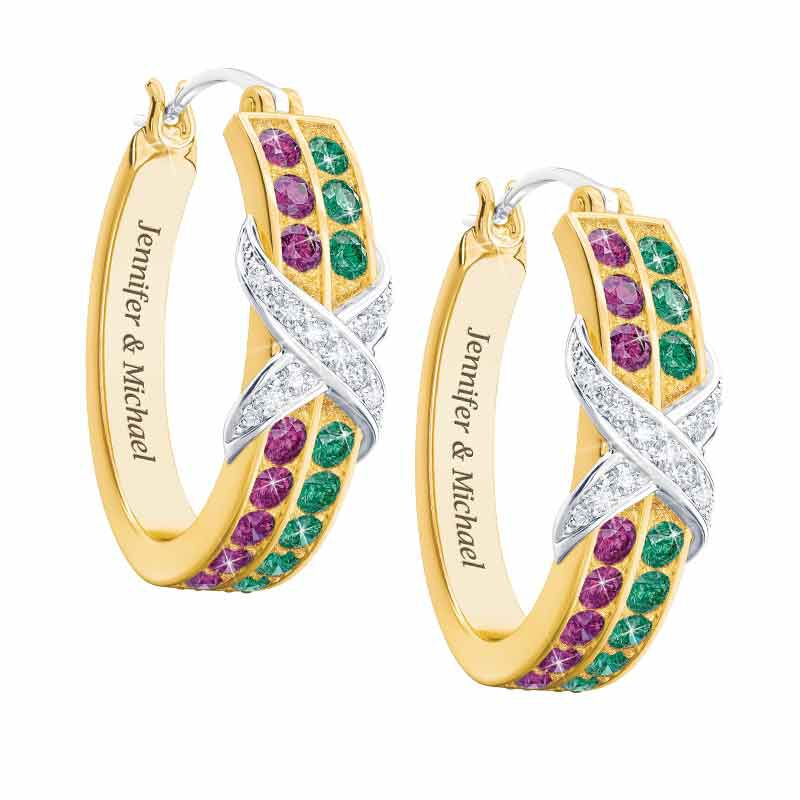 Birthstone  Diamond Kiss Earrings 1466 001 3 1