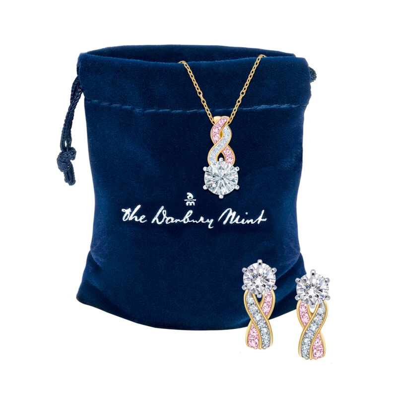 I Will Always Love You Daughter Journey Necklace with Matching Earrings 10496 0018 g gift pouch