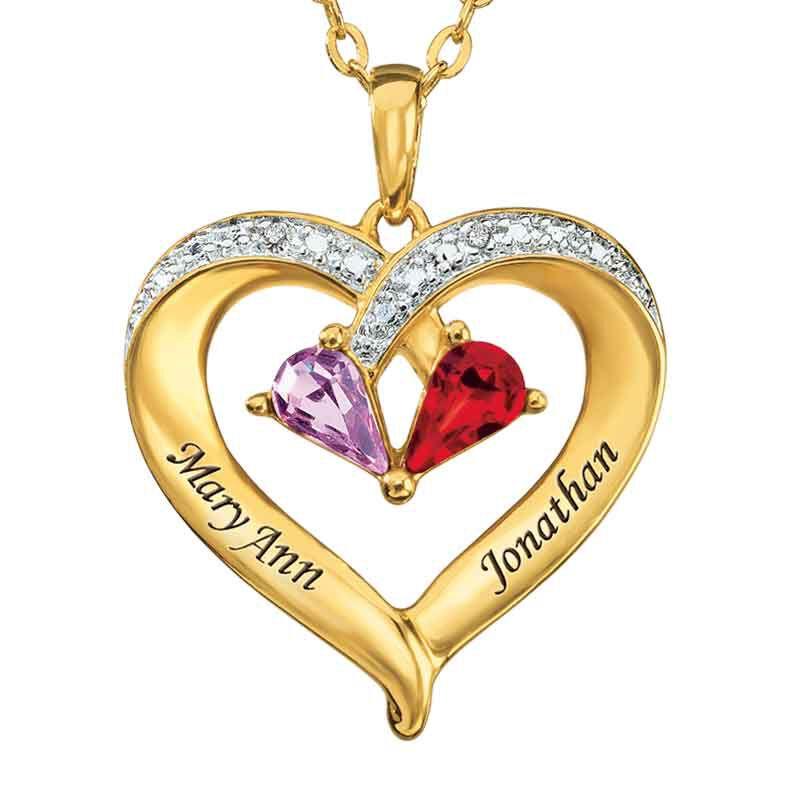 Forever Together Birthstone  Diamond Heart Pendant 9782 003 9 1