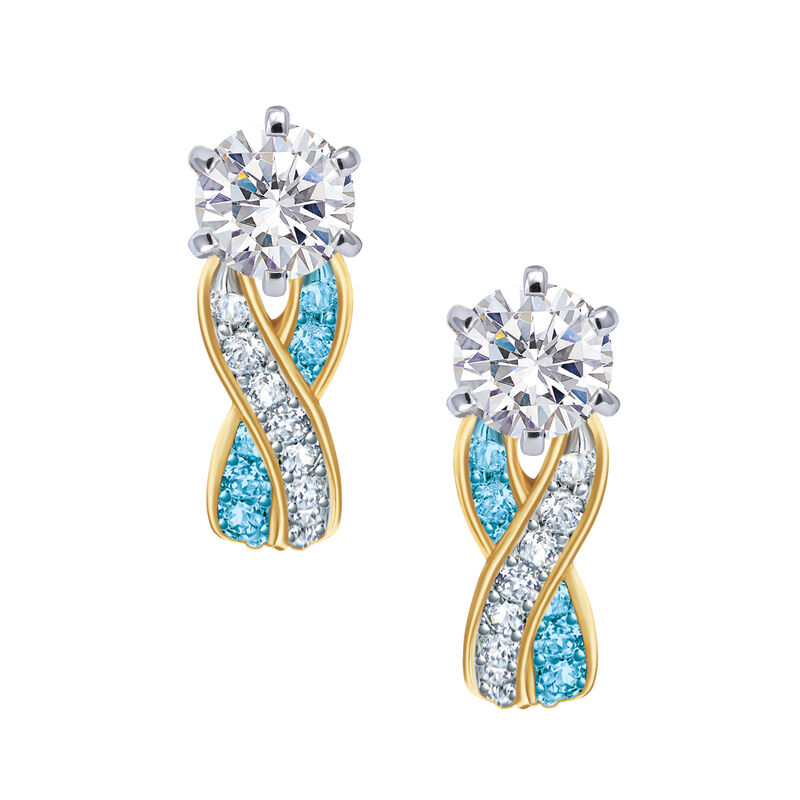 Birthstone Swirl Earrings 6503 0033 l december