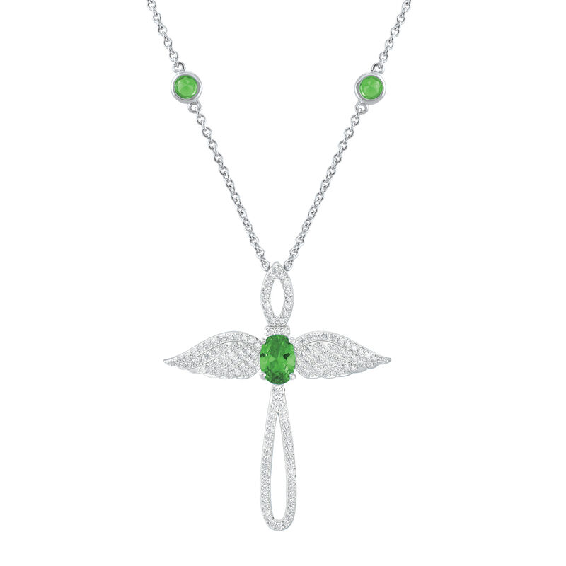 Touched by an Angel Birthstone Necklace 6842 0017 h august