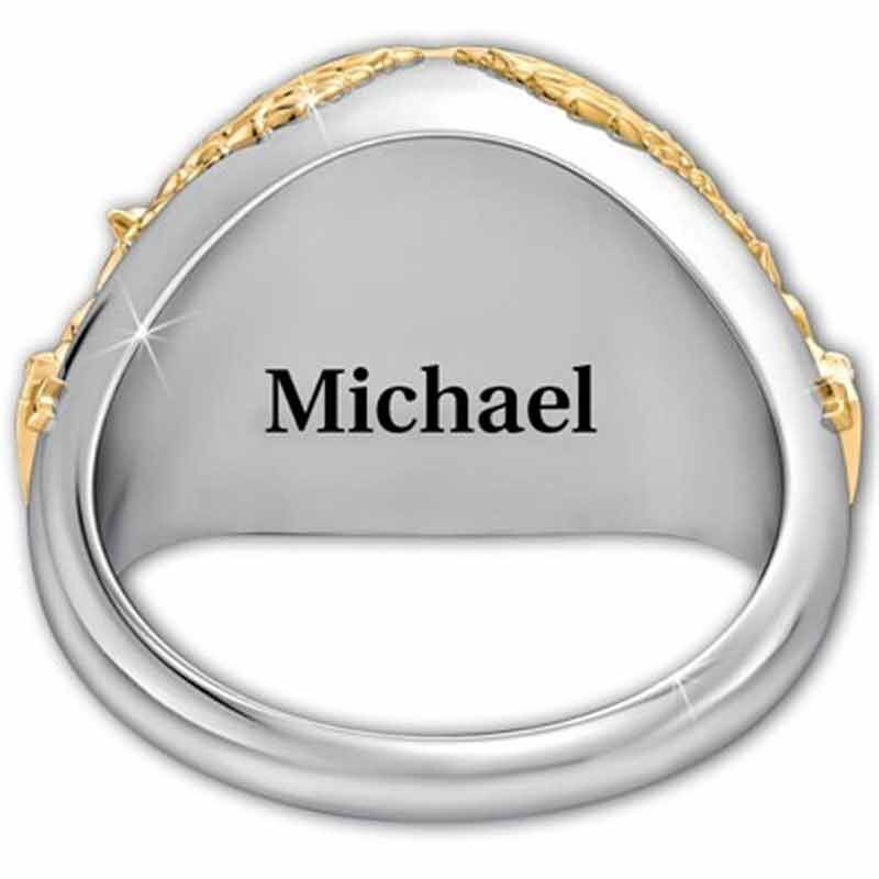 Personalized Air Force Eagle Ring 1835 002 5 2