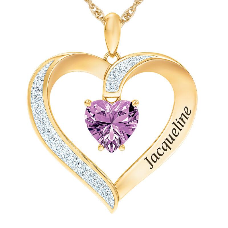 The Birthstone Heart Pendant 6015 0026 f june