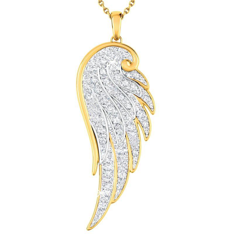 Angel Wing Diamond Pendant 1567 001 1 1