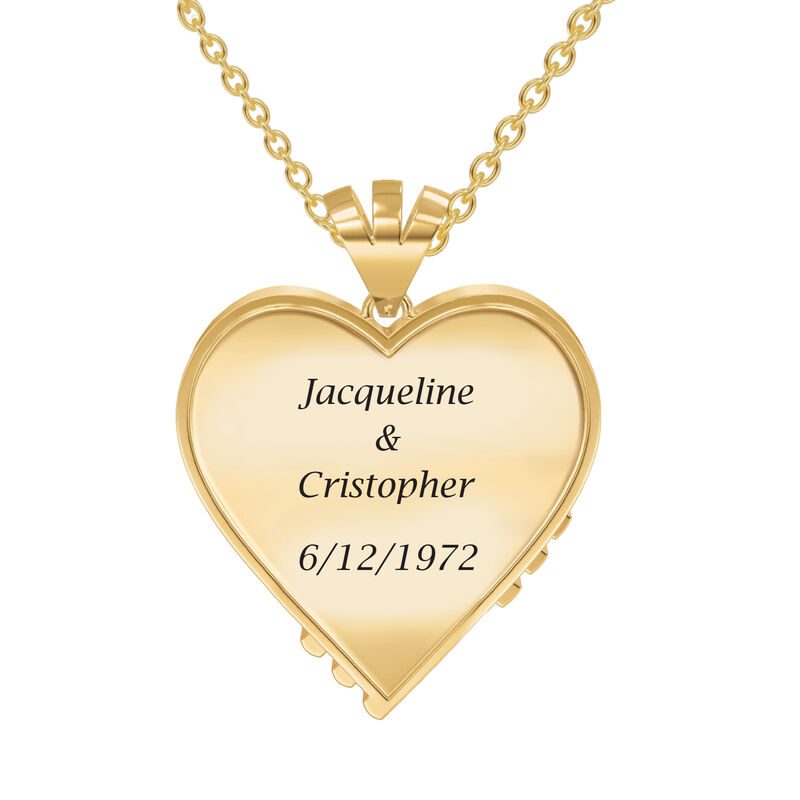 Woven Together Anniversary Heart Pendant 10134 0024 c back