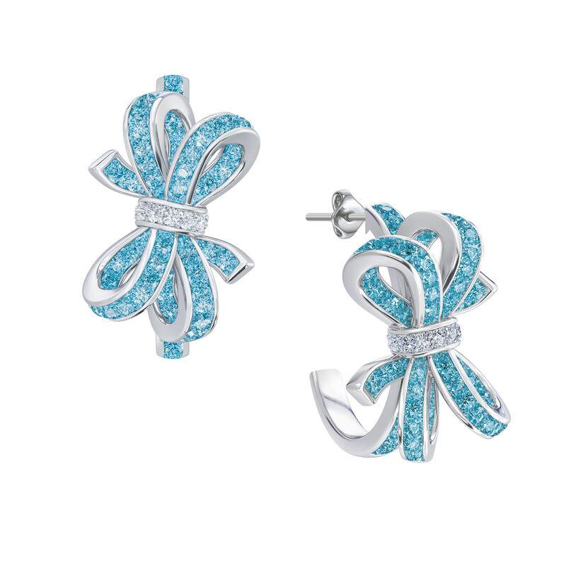 Birthstone Diamond Bow Earrings 1876 0066 c march
