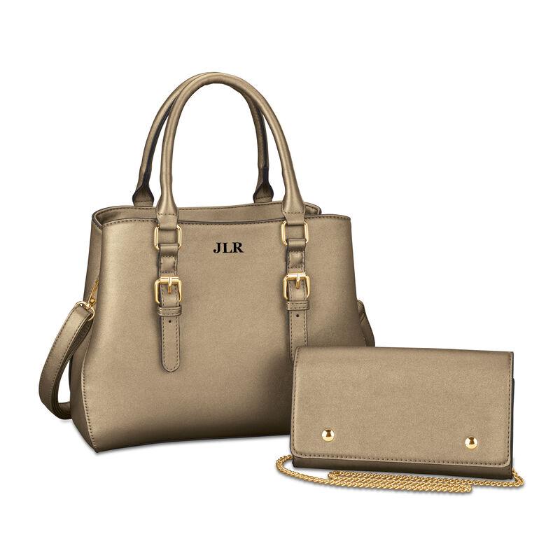 The Sloane Metallic Handbag Set 5519 0011 a main