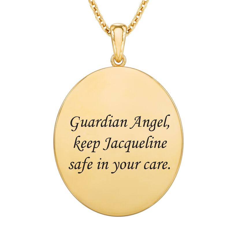 Guardian Angel Personalized Diamond Pendant 10612 0017 c back