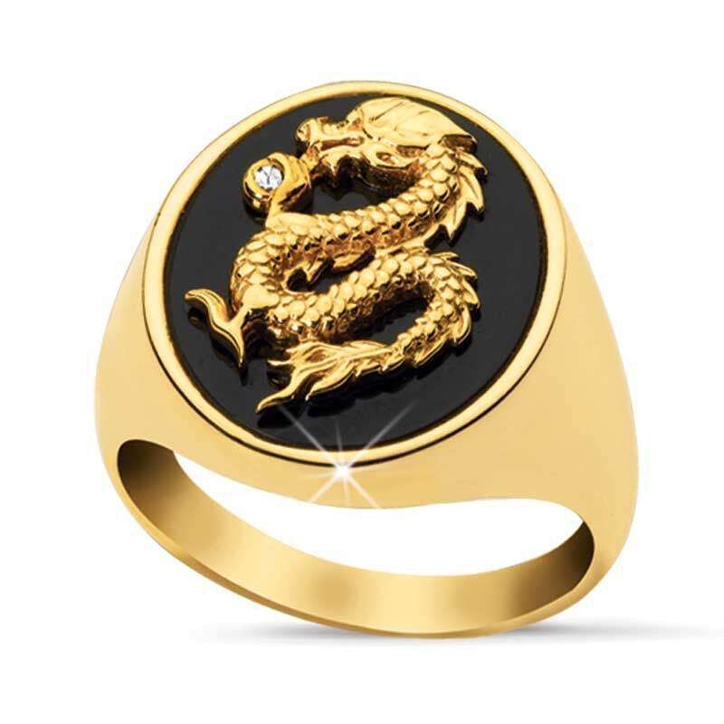 Mens Golden Dragon Ring 9071 002 1 1