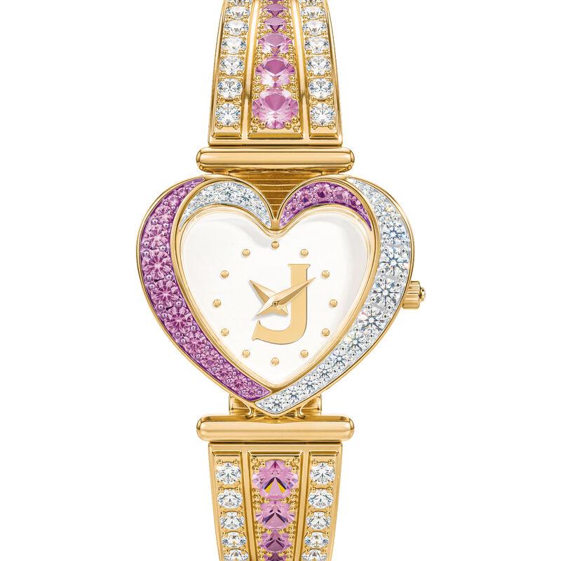 Womens Birthstone Initial Heart Watch 10332 0016 f june