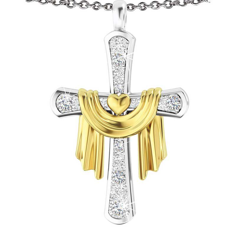 Gods Loving Promise Diamond Pendant 2091 002 2 1