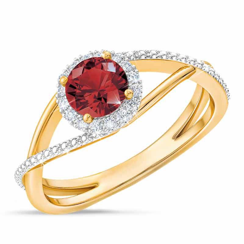 Birthstone  Diamond Ring 1099 001 8 1