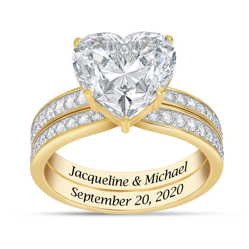 Personalized Endless Love Ring Set 10305 0019 a main