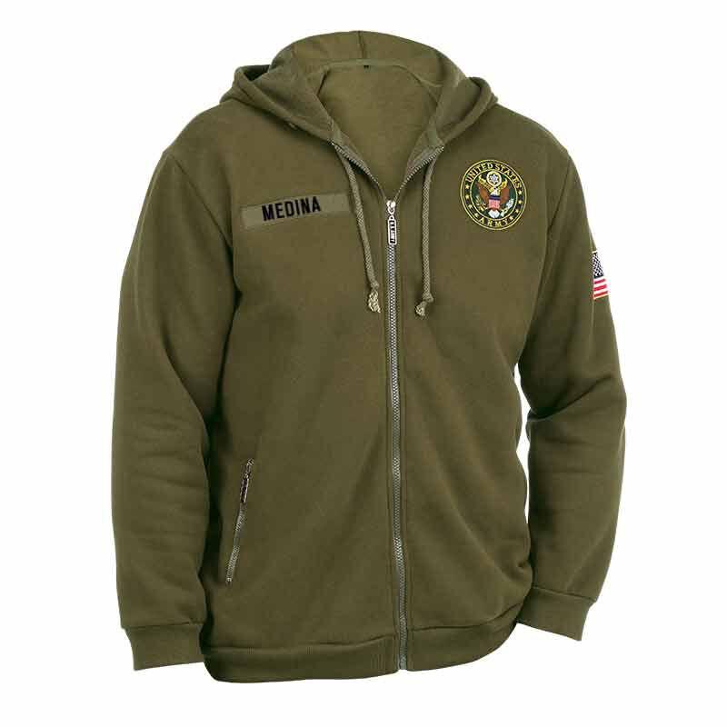 The US Army Zip up Hoodie 5762 001 5 1