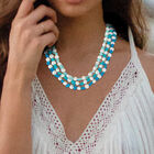 Blue Wave Pearl Necklace 6748 0012 m model
