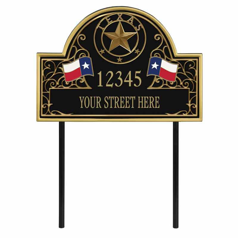 The Texas Personalized Address Plaque 1073 001 8 1