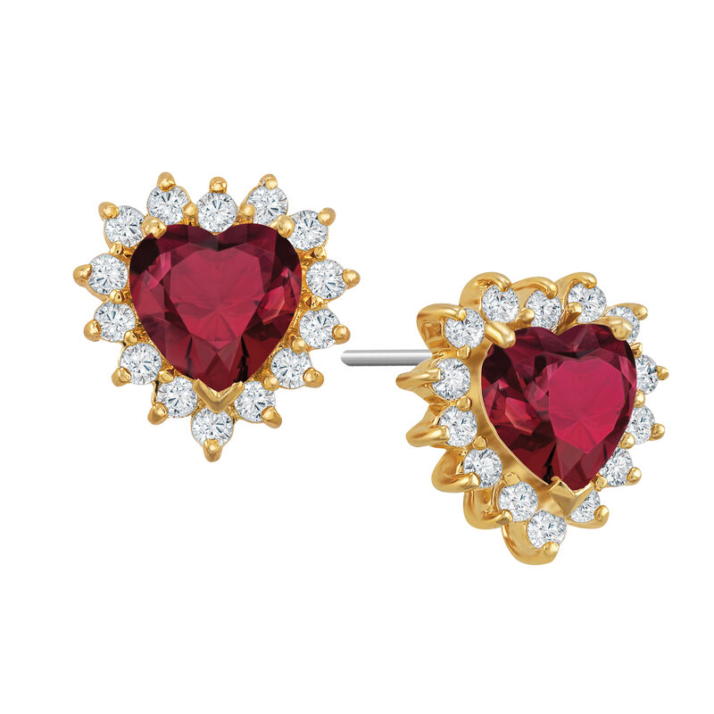 Perfectly Paired Heart Pendant and Earring Set 6574 0011 c earring