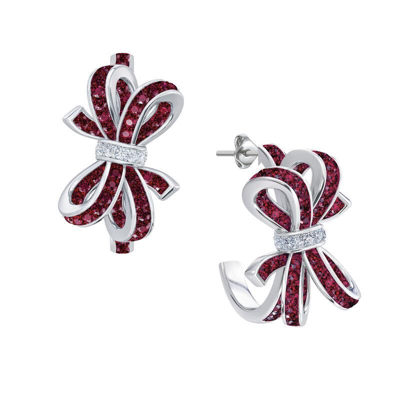 Birthstone Diamond Bow Earrings 1876 0066 a main