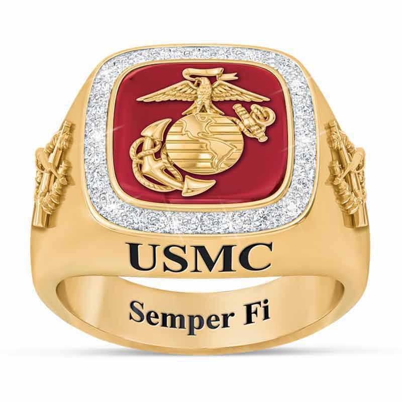 Personalized US Marines Ring 1660 003 3 1
