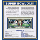 Super Bowl Enhanced Two Dollar Bill Collection 10454 0018 a main