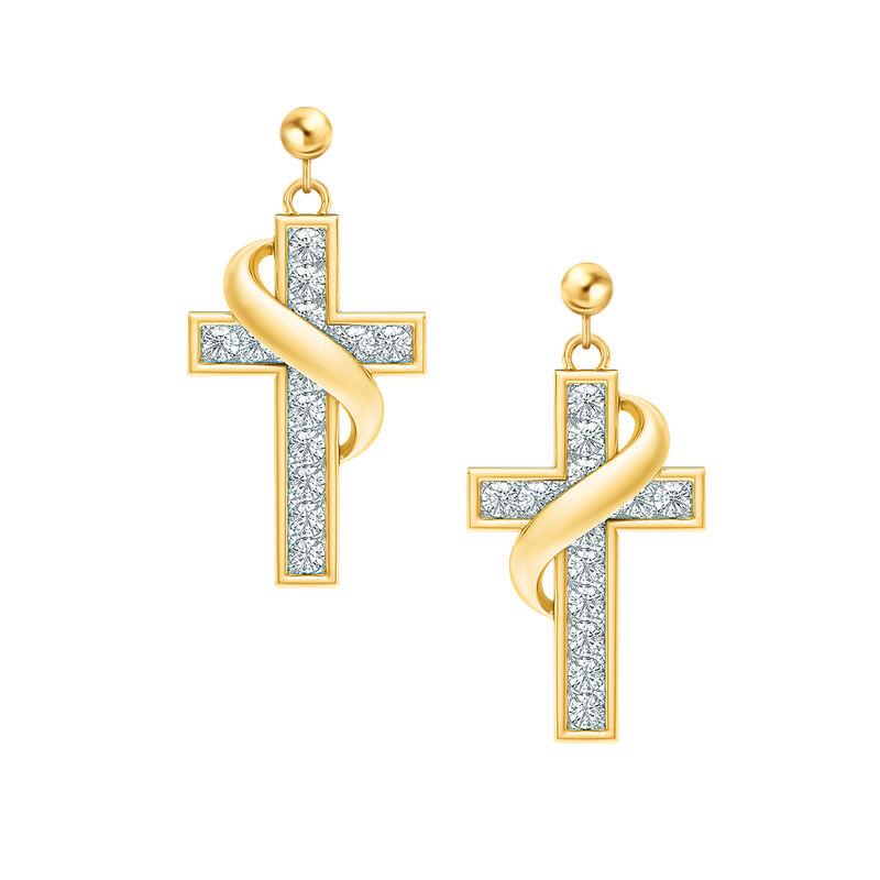 Birthstone Cross Earrings 5657 0021 d april