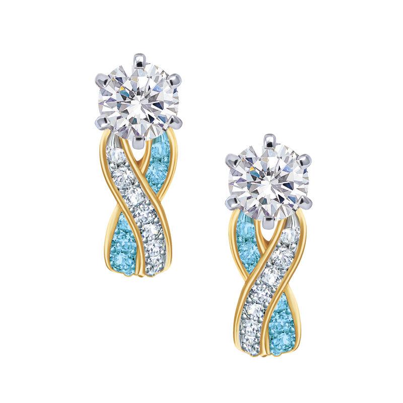 Birthstone Swirl Earrings 6503 0033 c march