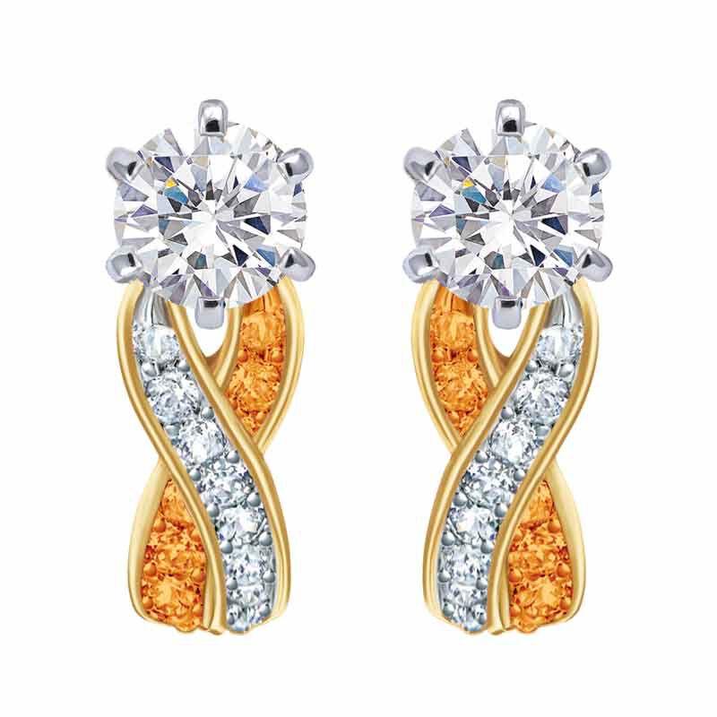 Birthstone Swirl Earrings 2647 001 3 11