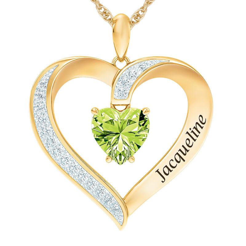 The Birthstone Heart Pendant 6015 0026 h august