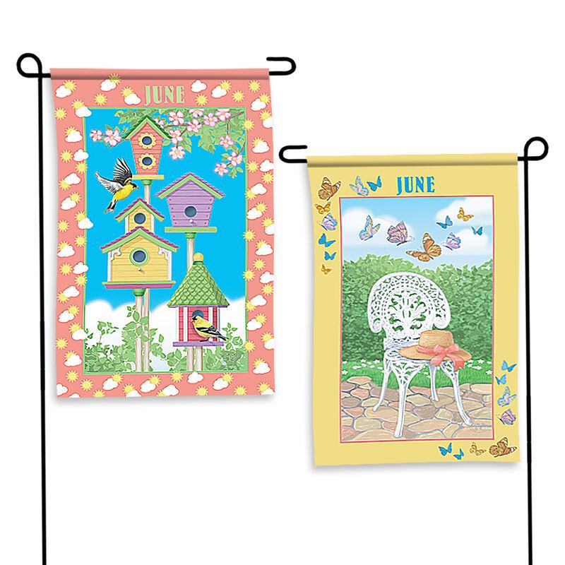 Year of Cheer Garden Flags 6547 0015 b June