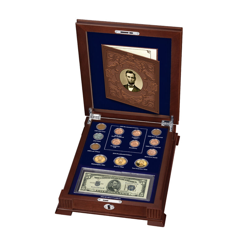 Abraham Lincoln Coin and Currency Set 6159 0014 f open display