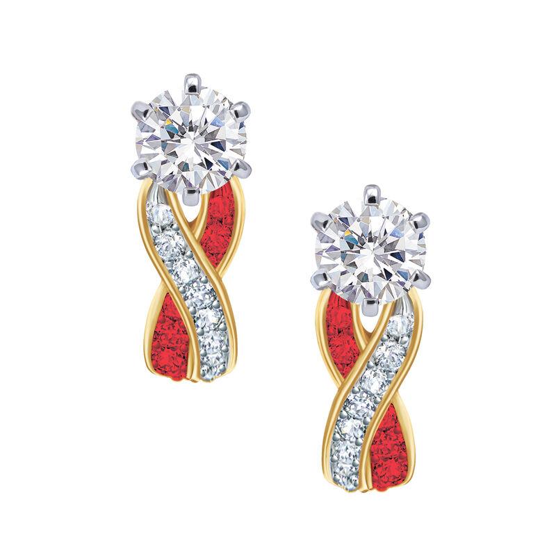 Birthstone Swirl Earrings 6503 0033 g july
