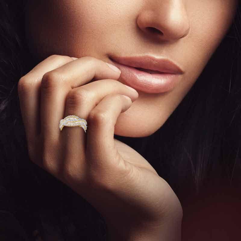 Bold  Brilliant Simulated Diamond Ring 6601 002 6 2