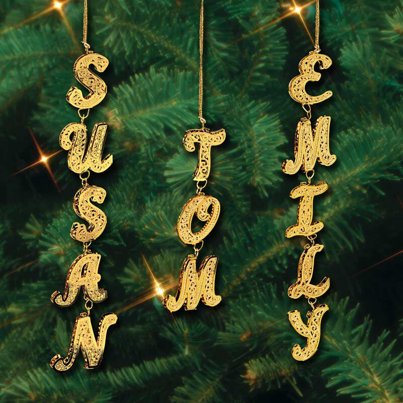 Uniquely Yours Personalized Gold Christmas Ornaments 0084 004 1 2