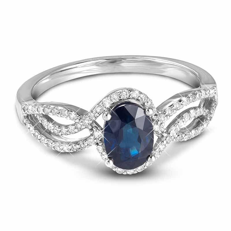 Sapphire Serenade 14kt Gold  Diamond Ring 6169 001 2 2