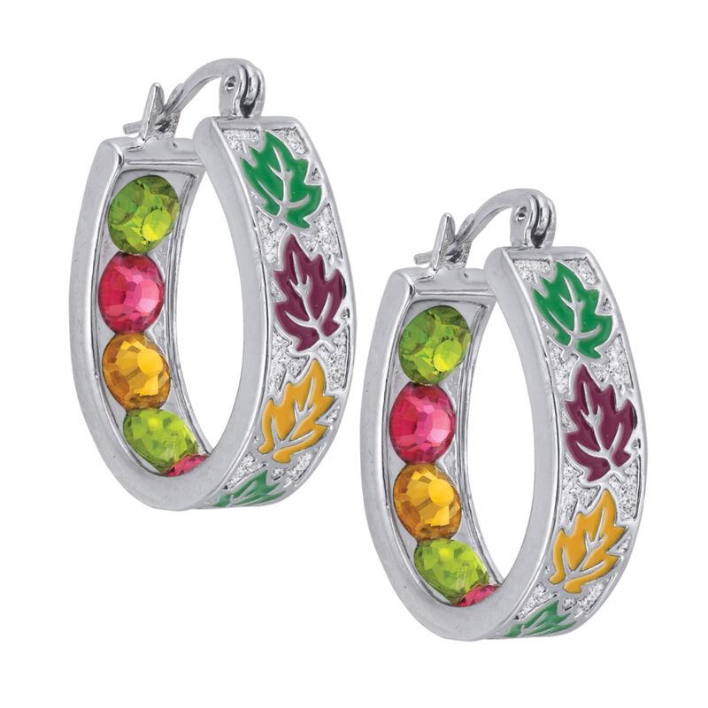 Crystal Celebrations Hoop Earrings 4608 0032 e october
