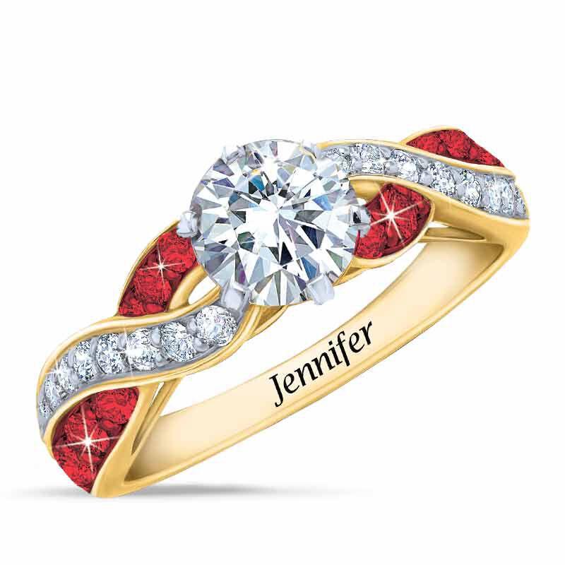 Birthstone Swirl Personalized Ring 5361 001 0 1
