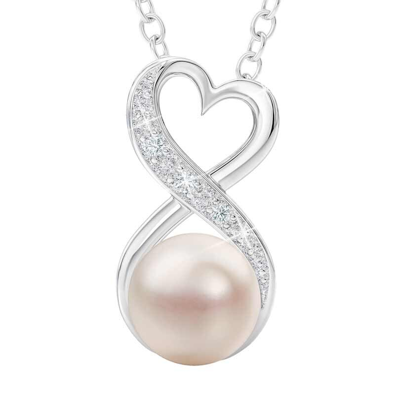 Granddaughter You Are My Precious Pearl Infinity Necklace 5944 001 6 1