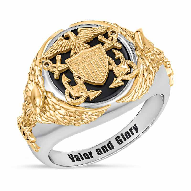 Personalized Navy Eagle Ring 1835 001 7 1