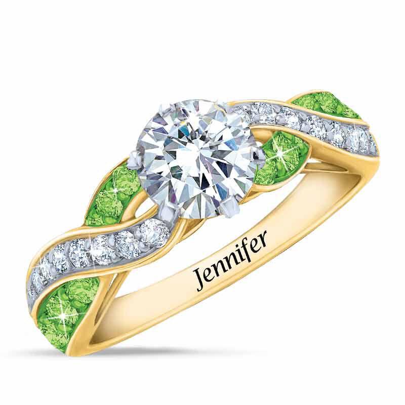 Birthstone Swirl Personalized Ring 5361 001 0 8