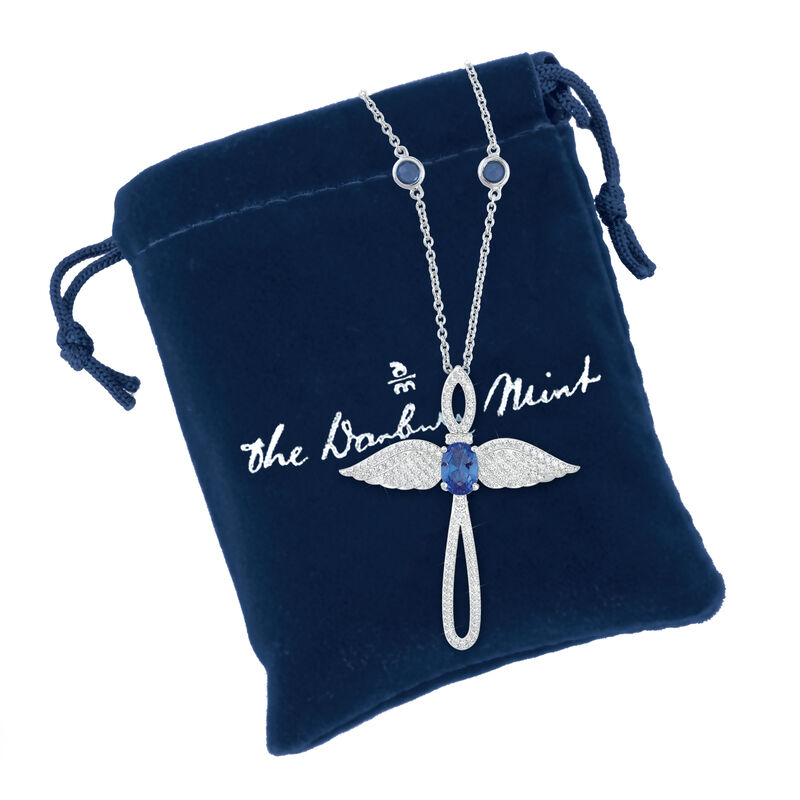 Touched by an Angel Birthstone Necklace 6842 0017 n gift pouch