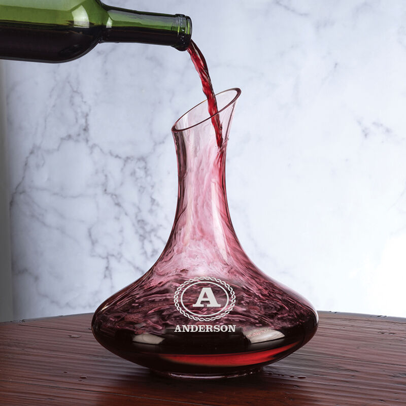 Personalized Wine Decanter Set 5668 0028 h pour