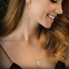 Elegantly Paired Caged Pendant Earring Set 6734 0018 m model