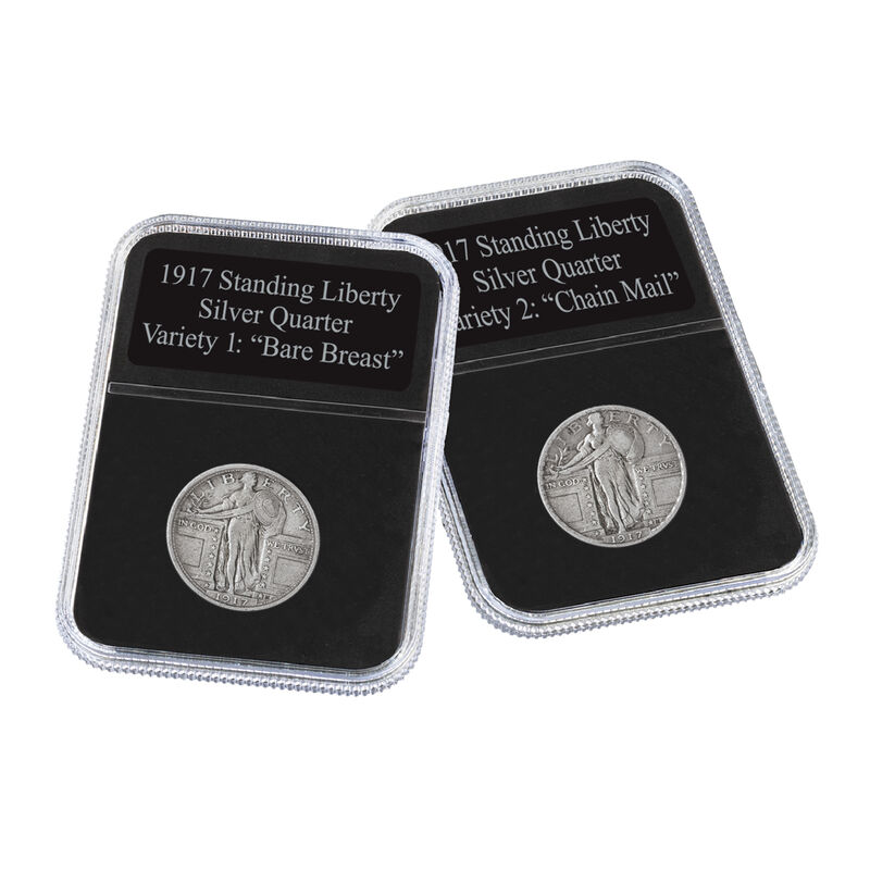 The 1917 Standing Liberty Silver Quarter Set 6811 0014 d capsules