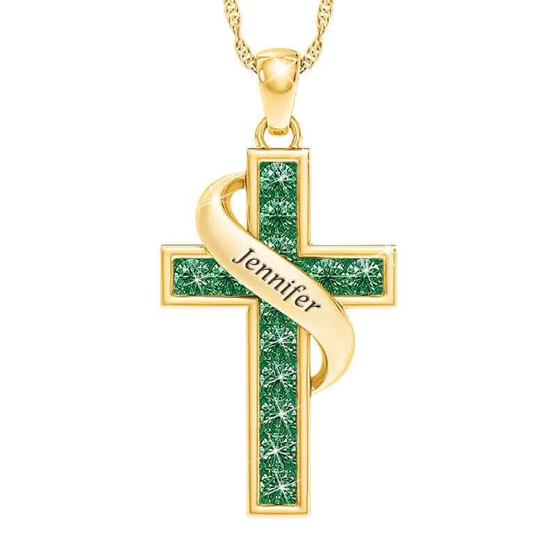 Personalized Birthstone Cross Pendant 5657 001 3 5