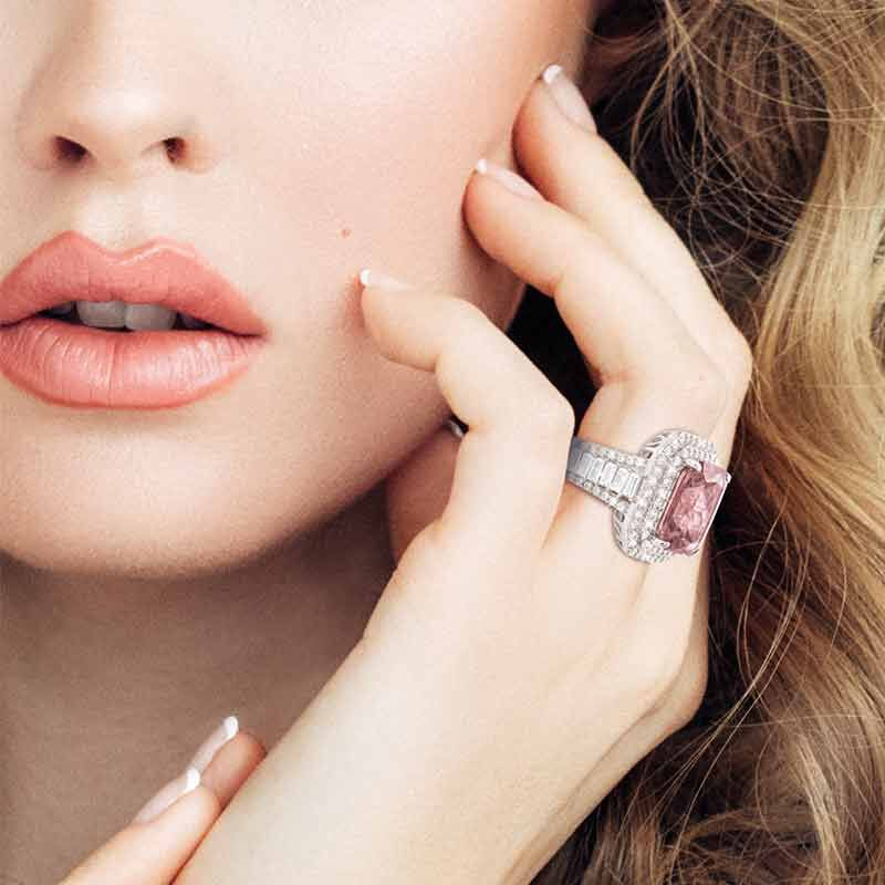 The Blushing Beauty Sterling Silver Ring 6423 001 4 3