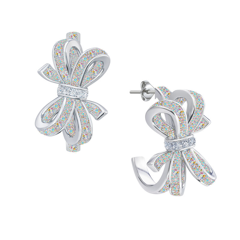 Birthstone Diamond Bow Earrings 1876 0066 j october